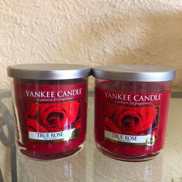 Yankee Candle True Rose 7oz Jars (pair)